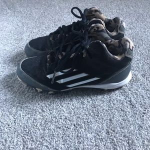 adidas Shoes - Youth black and white adidas baseball cleats